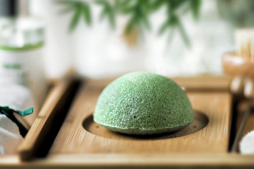 japanese green konjac sponge for face