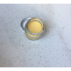 strawberry flavoured organic vegan lip balm