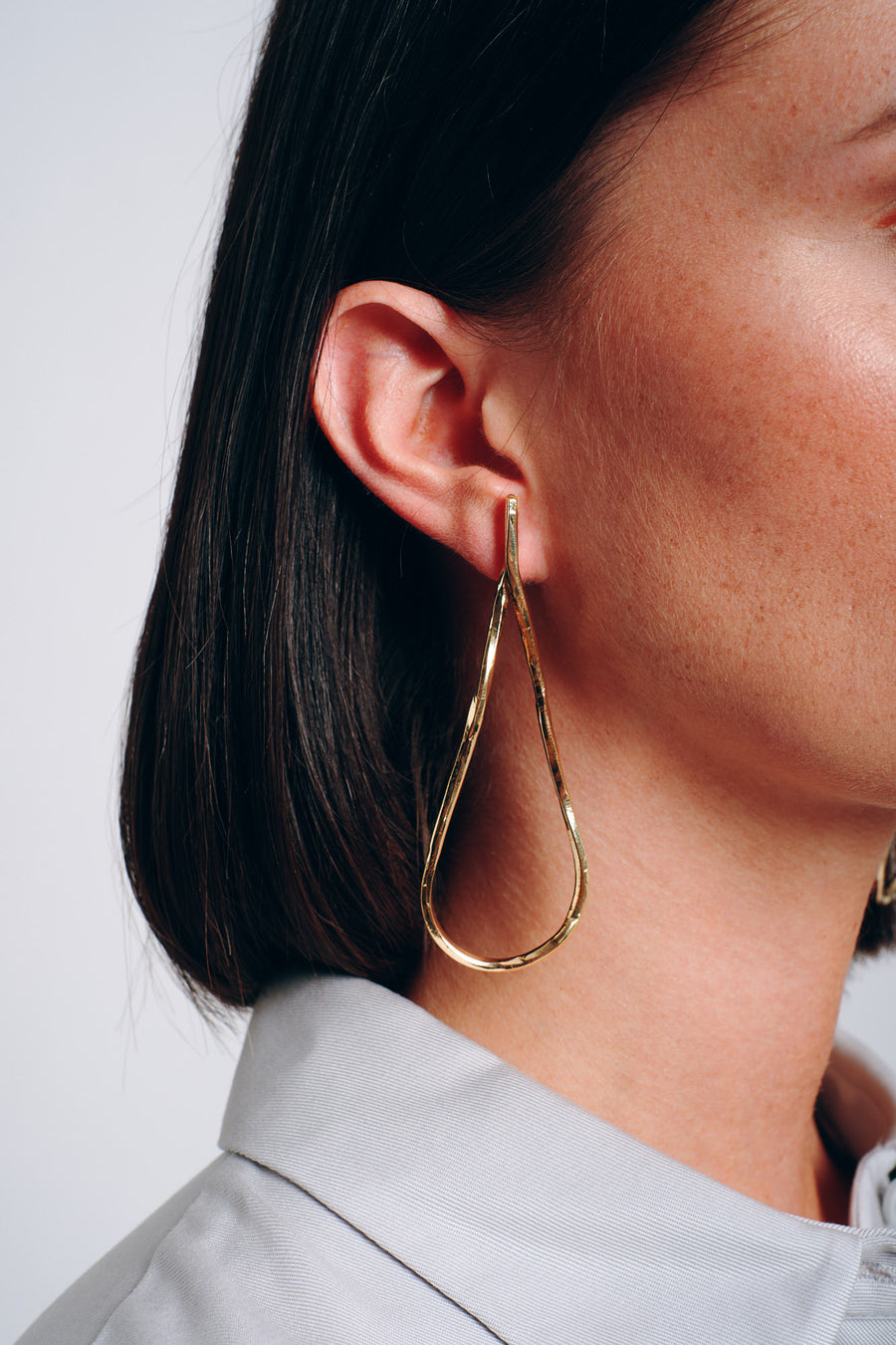 Imperfect drop earrings brass