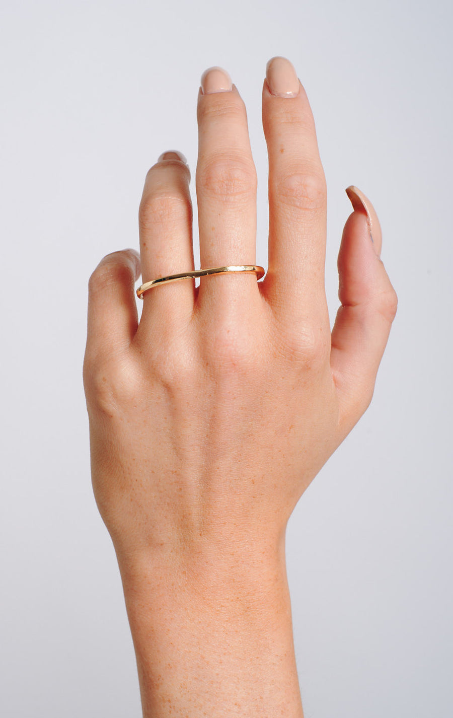Double finger ring brass