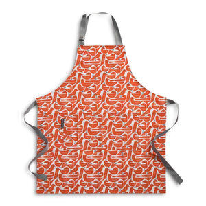 Apron for cooking or baking in bold Graphic Bird print
