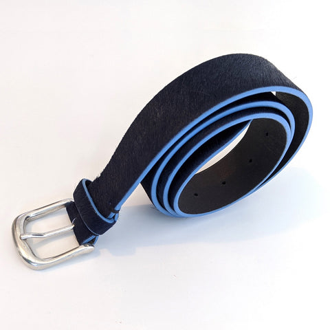 Skylark Belt in French-Navy & Light Blue Edge