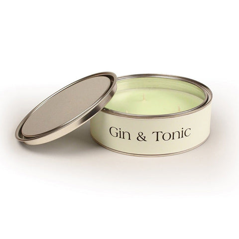 Image of Gin & tonic fragrance scented triple wick candle tin with 15 hour burn time