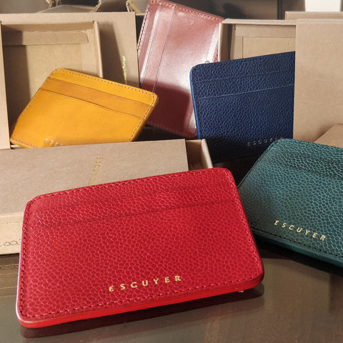 Image of Handcrafted Leather Cardholder - Selection