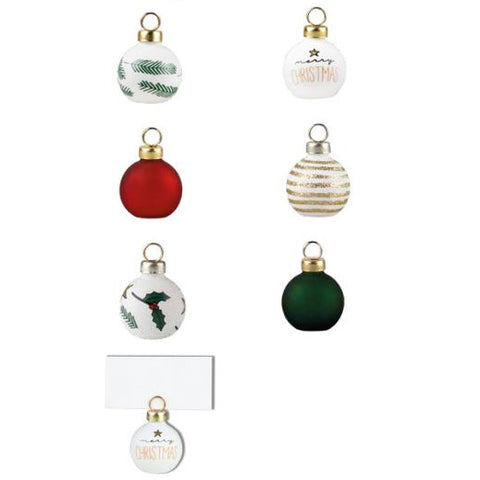 Christmas Bauble Place Card Holders - Set of 6
