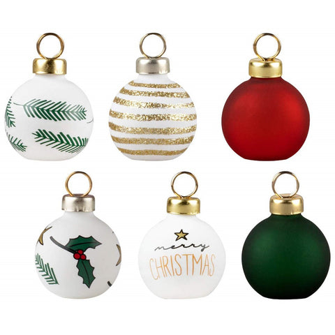 Image of Christmas Bauble Place Card Holders - Set of 6