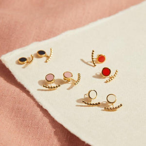 Comet Two Part Enamel Stud Earrings - Selection