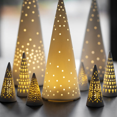 LED Fir Tree lights selection - lit