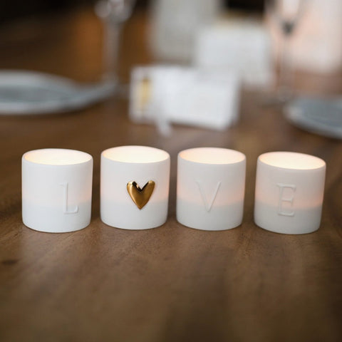 Image of Love Lights Set of 4 on Table