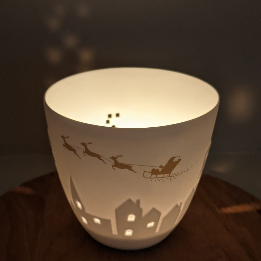 Poetry Light - Gold Sleigh & Reindeer - Staged