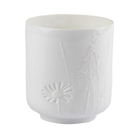 Image of Small delicate porcelain poetry table light in Grasses & Blossom pattern by räder