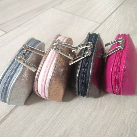Image of Genuine leather coin purse selection of colours