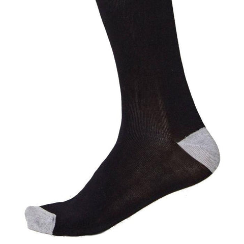 Solid jacks soft & breathable bamboo socks in black - side view