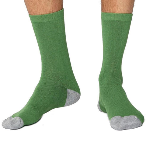 Solid jacks soft & breathable bamboo socks in green
