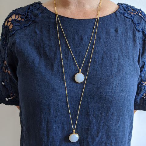 Image of Sofia Milky Chalcedony Necklace