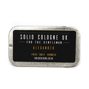 Solid Cologne Tin - Alexander Scent