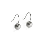 Sterling Silver Sphere Earrings Small - Hook