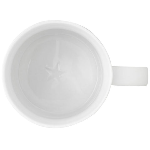 Image of White Porcelain Cups With Stars - Inside