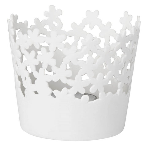 Delicate small porcelain table light by räder in Blossom pattern