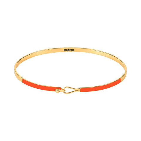 Thin Enamel Clasp Bracelet in Orange