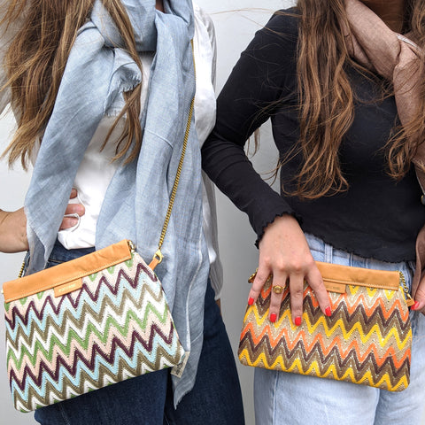 Image of Zig Zag Clutch / Shoulder Bag Selection - Models