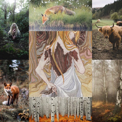 October 2021 Into The Lore mood board for the Huldra.