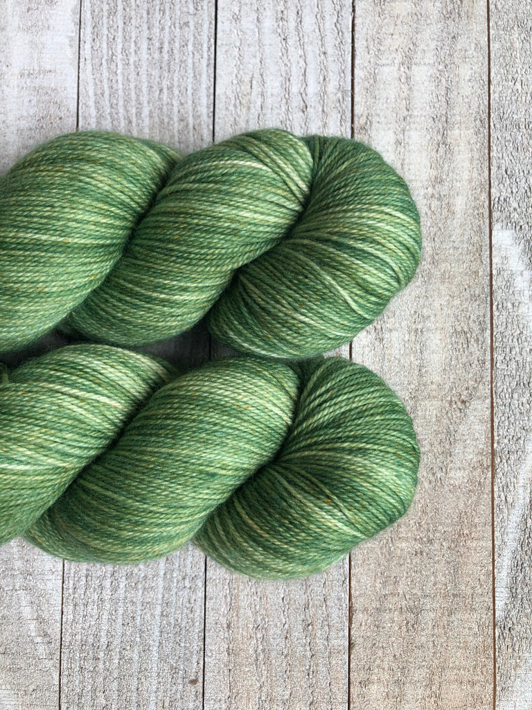 OOAK ColorPlay (Green) on Mystery Sock
