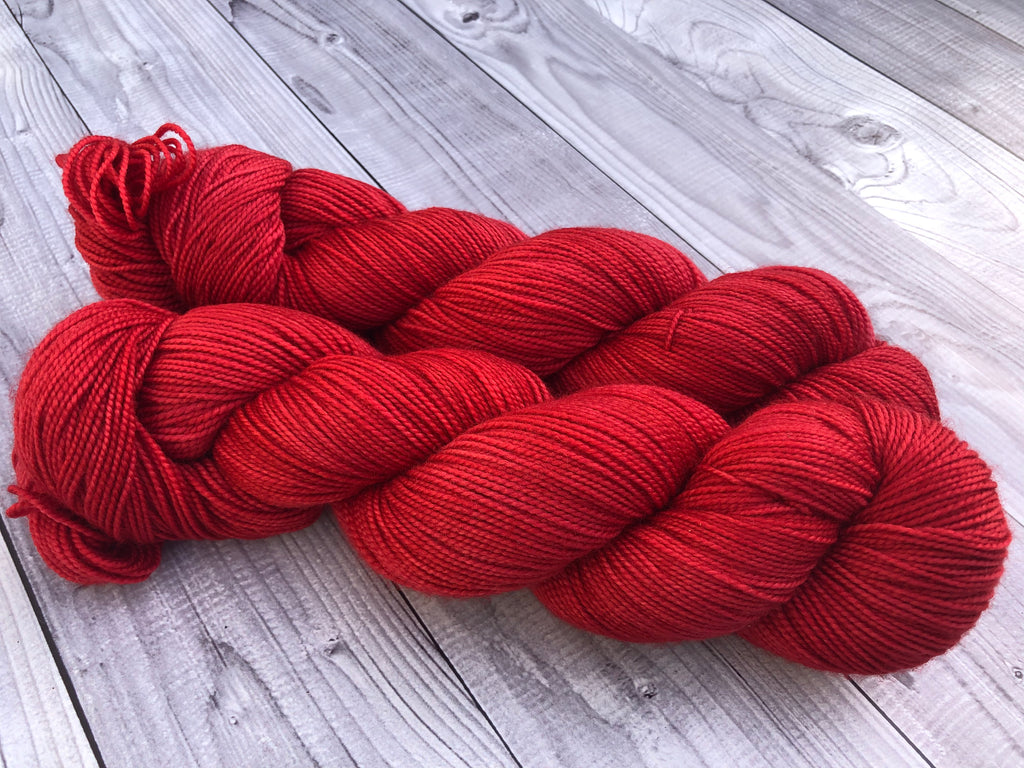 OOAK Red Colorplay on Gracious Sock