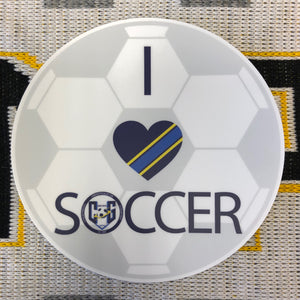 I Love Soccer Stickers (5-Inch Round)