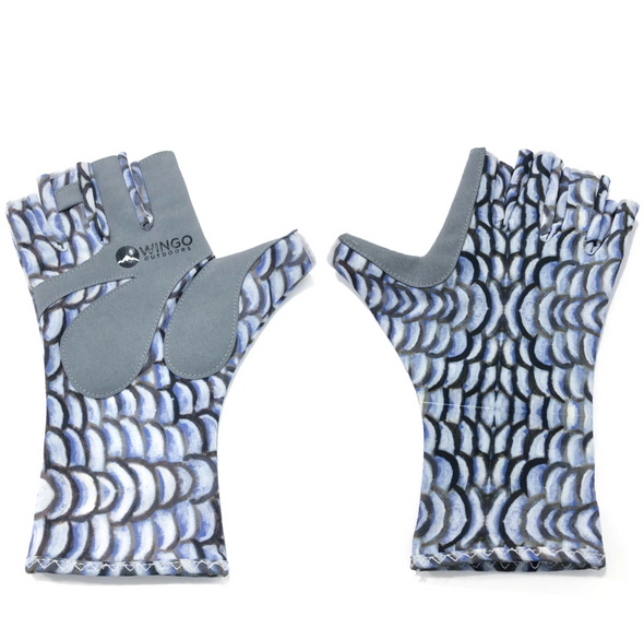 Fish Skin Casting Gloves - Bonefish