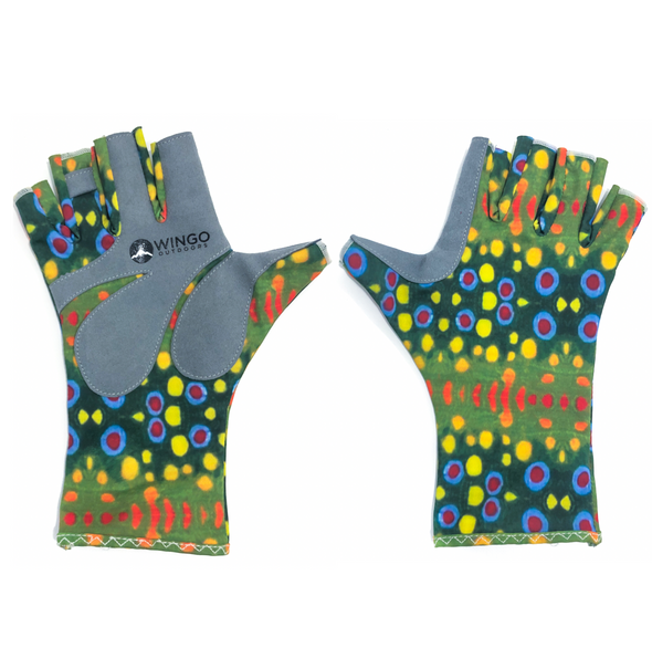 Fish Skin Casting Gloves - Brook Trout