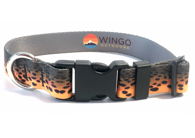 Dog Collar - RepYourWater Brown Trout