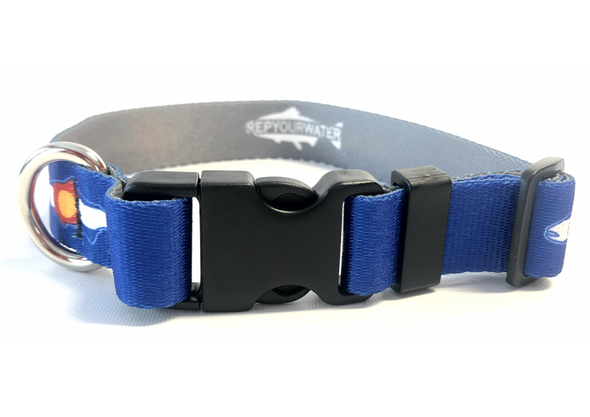Dog Collar - RepYourWater CO Flag Trout