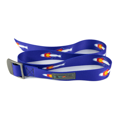 Basecamp Belt - RepYourWater CO Flag Trout