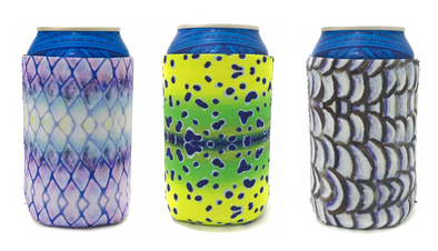 Fish Skin Can Cooler 3-Pack - Salt