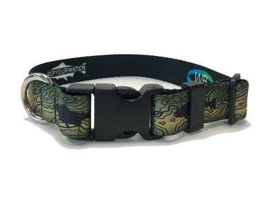 Dog Collar - RepYourWater Topo Trout