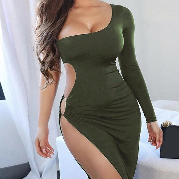 Irregular One Shoulder Backless Dress