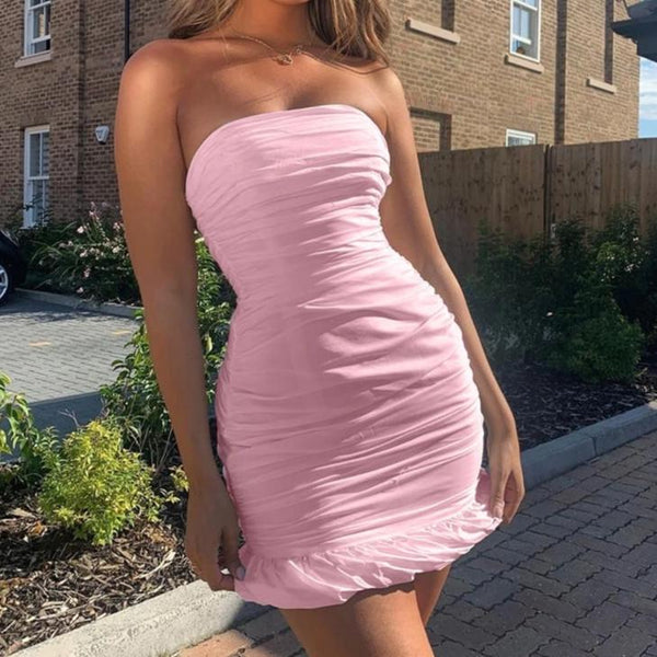Double Layers Wrapped Dress