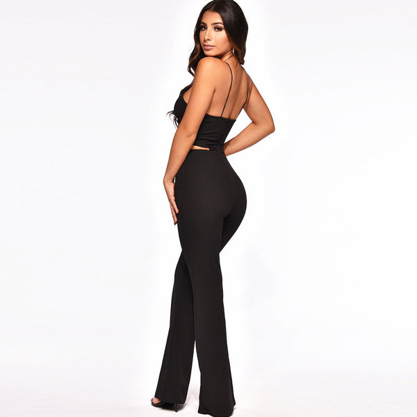 Bandage Wide Leg Jumpsuit