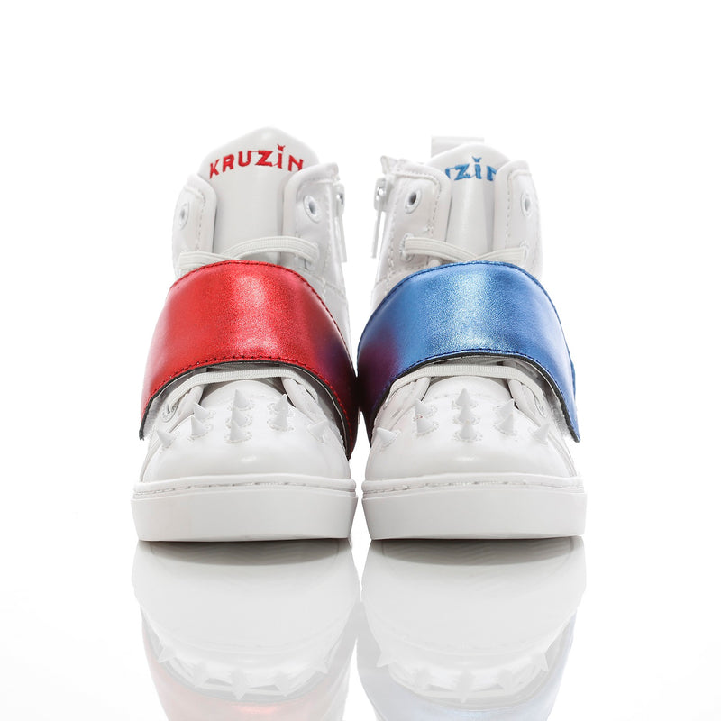 Mini Cloud White Royal Blue Red