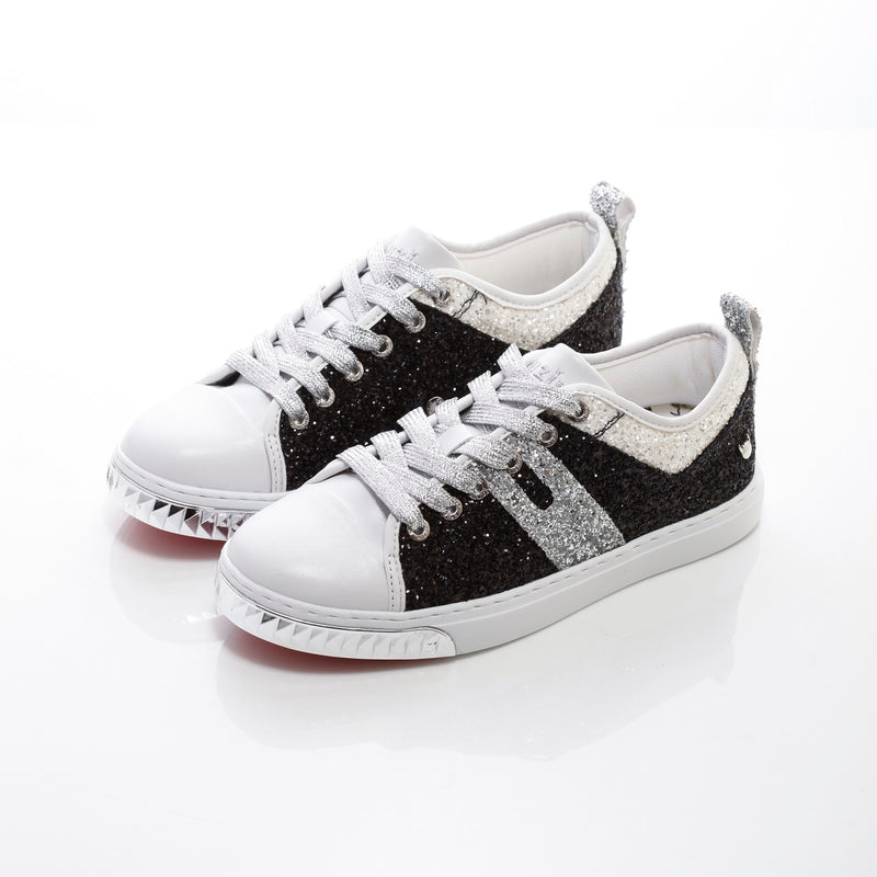 Women's Jupiter Black - Low Top Glitter Sneakers