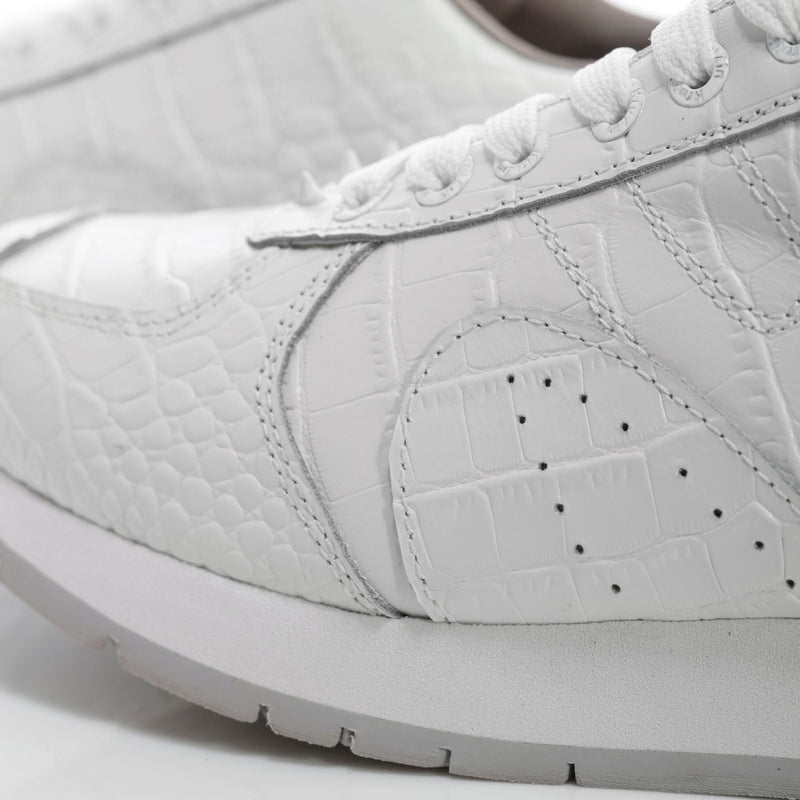 Spiked White Leather Sneakers