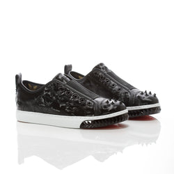 Women's Crazy Horse Black Camo - Low Top Leather Sneakers