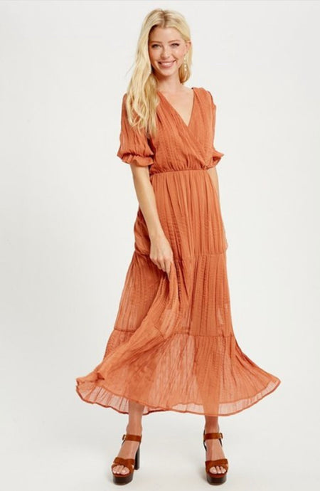 Sunset Days Crinkle Maxi
