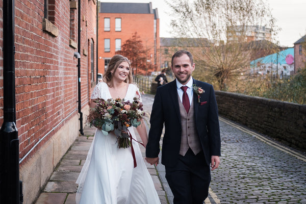 Our bride Abigail in our Cecilia Wedding Dress