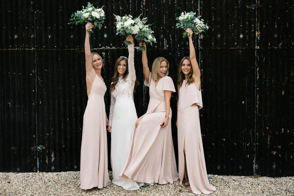 Beautiful nude bridesmaid dresses