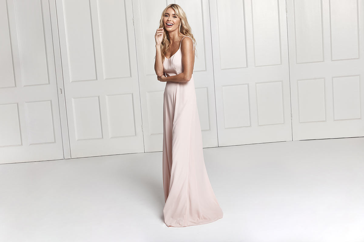 Sienna bridesmaid dress in blush