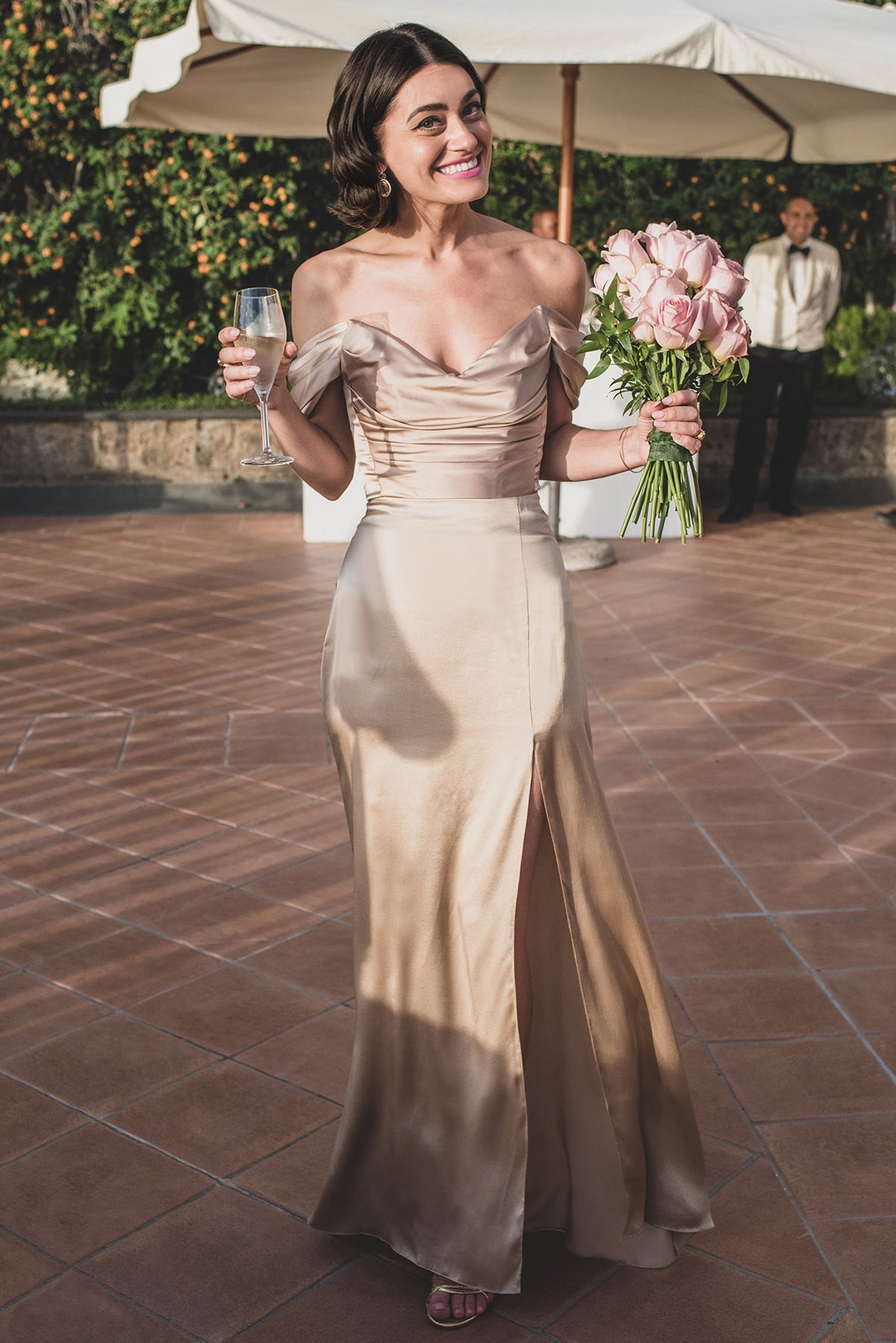 Silk wedding skirt and top set
