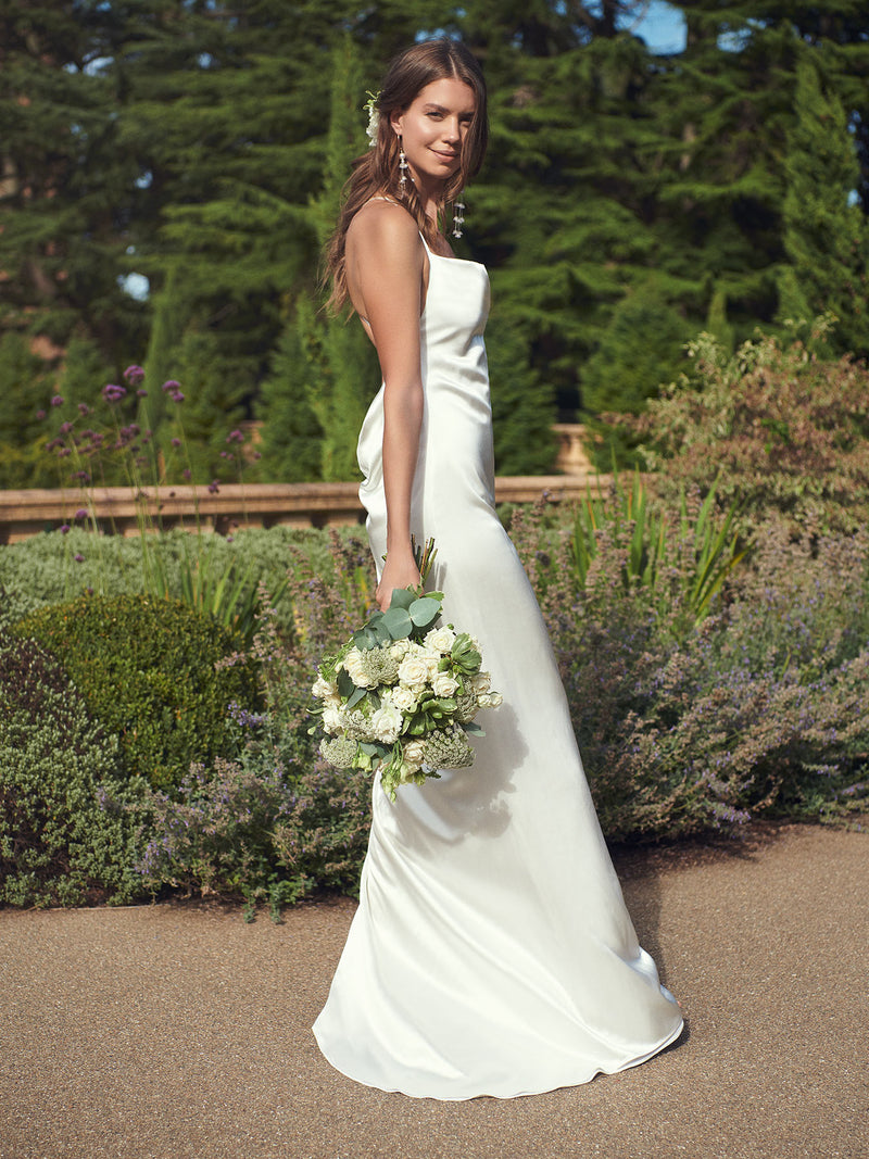 Arabella ivory silk wedding dress