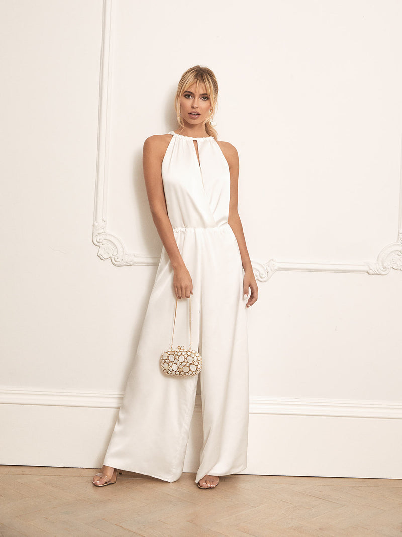 Anastasia jumpsuit in white